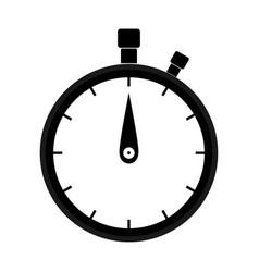 Stopwatch black color icon vector