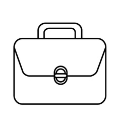 Suitcase with square graphic vector