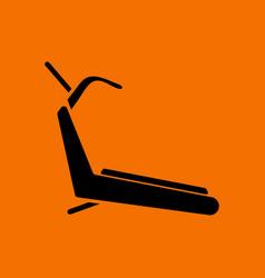 Treadmill icon vector