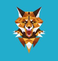 Wolf head polygon geometric vector image