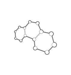 Molecules icon outline style vector image