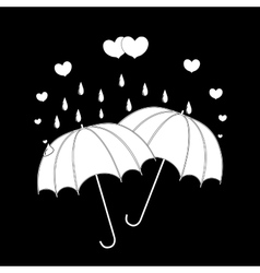 T shirt typography graphic with umbrella and heart vector