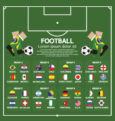 2014 football tournament chart vector