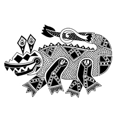 Black and white authentic original decorative vector