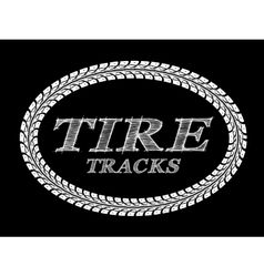 Tire tracks frame vector image