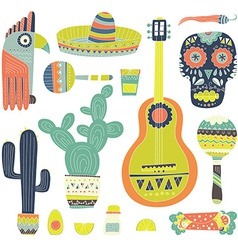 Mexican elements vector