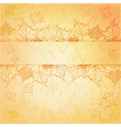 Background with maple autumn leaves vector