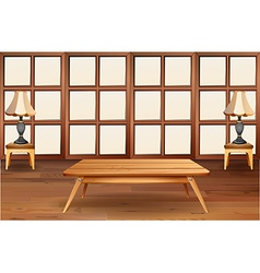 Room with wooden furniture vector image