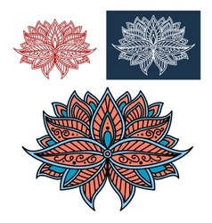 Persian paisley flower with intricate ornament vector