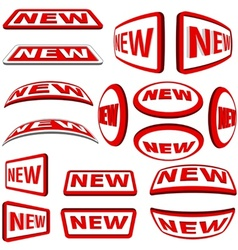 New Labels vector image