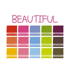 Beautiful color tone vector