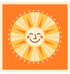 Retro style cartoon sun vector