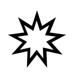 BahaiIcon vector image vector image