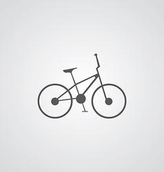 bike outline symbol dark on white background logo vector image