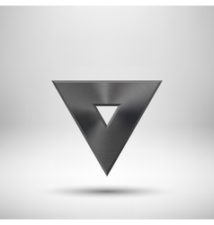 Black Abstract Triangle Button Template vector image vector image