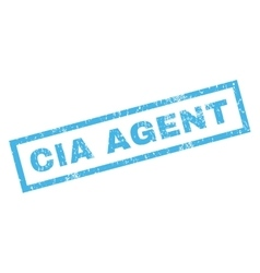 Cia agent rubber stamp vector