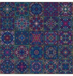 Colorful square tiles seamless pattern vector