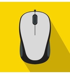 Computer mouse icon in flat style vector image