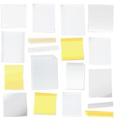 feuilles de papier vector image vector image