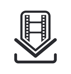 film download icon vector image