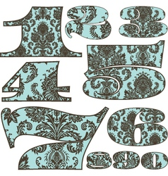 Floral letters vector