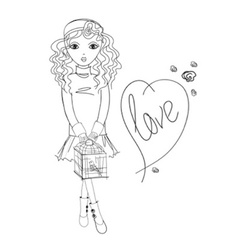 girlfashion1 06 vector image