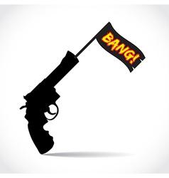 Gun Bang vector image vector image