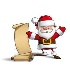 Happy santa gift list vector