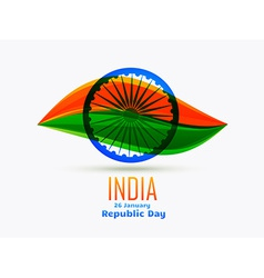 Indian republic day design celebrated on 26 vector