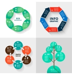 infographics set - eco and business vector image