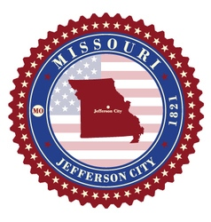 Label sticker cards of state missouri usa vector