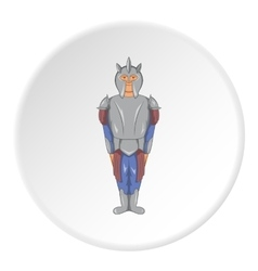 Medieval warrior icon cartoon style vector