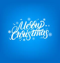 merry christmas hand written lettering design vector image vector image