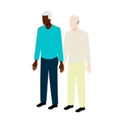 Old gay isometric couple vector image vector image