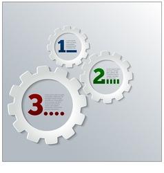 Paper Techno Gears Cog Wheels Infographics vector image