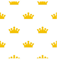 Royal crown pattern flat vector