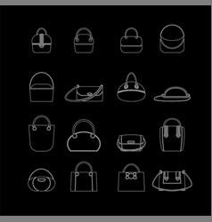 Shopping bag icon set vector