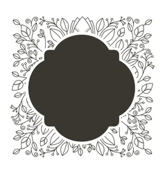 Silhouette rounded border heraldic with decorative vector