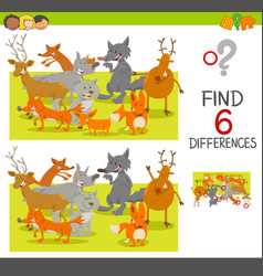 Spot the differences game vector