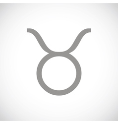 Taurus black icon vector