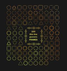 thin line modern geometric frames vector image vector image
