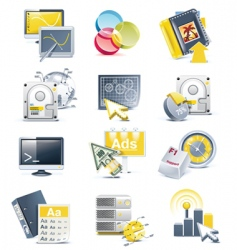 website development icon set vector image vector image