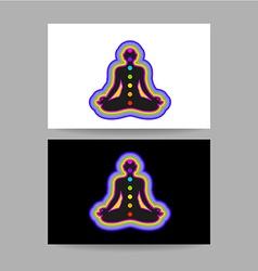 yoga chakra template vector image vector image