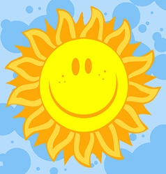 Sun face with petal like rays vector