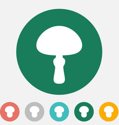 Mushroom icon or logo isolated vector
