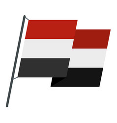 Egyptian wavy flag icon isolated vector