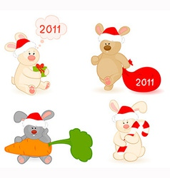 Christmas bear vector