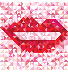 Seamless lip love pattern vector