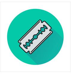 Blade razor icon on circle vector