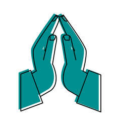 praying hands icon image vector image